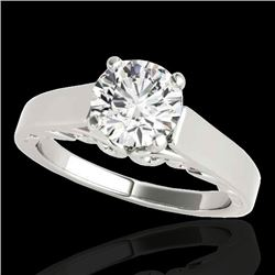 1 CTW H-SI/I Certified Diamond Solitaire Ring 10K White Gold - REF-227K3W - 35137