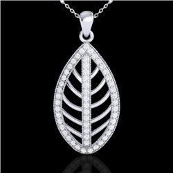 1 CTW Micro Pave VS/SI Diamond Certified Designer Necklace 18K White Gold - REF-100N2A - 21546