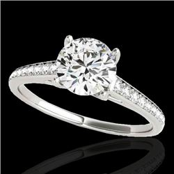 1.50 CTW H-SI/I Certified Diamond Solitaire Ring 10K White Gold - REF-214F2N - 34844