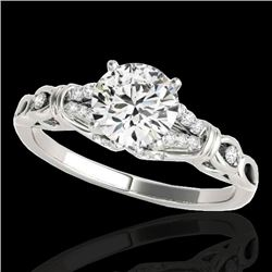 1.20 CTW H-SI/I Certified Diamond Solitaire Ring 10K White Gold - REF-156K4W - 35250