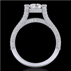 2 CTW VS/SI Diamond Micro Pave Ring 18K White Gold - REF-290Y9X - 36947
