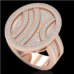 1.25 CTW Micro Pave VS/SI Diamond Certified Ring 14K Rose Gold - REF-111K3W - 20875