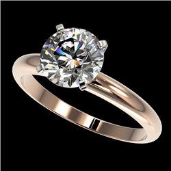 2 CTW Certified H-SI/I Quality Diamond Solitaire Engagement Ring 10K Rose Gold - REF-615N2A - 32933