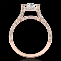 2 CTW VS/SI Diamond Micro Pave Ring 18K Rose Gold - REF-290W9H - 36948