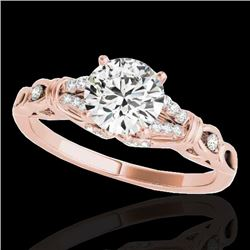1.20 CTW H-SI/I Certified Diamond Solitaire Ring 10K Rose Gold - REF-156H4M - 35251