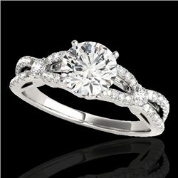 1.35 CTW H-SI/I Certified Diamond Solitaire Ring 10K White Gold - REF-167H3M - 35223