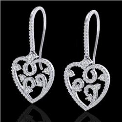 2.50 CTW VS/SI Diamond Certified Micro Pave Designer Earrings 14K White Gold - REF-179F3N - 20097