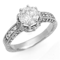 1.75 CTW Certified VS/SI Diamond Solitaire Ring 18K White Gold - REF-568M7F - 14116