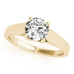 0.50 CTW Certified VS/SI Diamond Solitaire Ring 18K Yellow Gold - REF-104M9F - 28148