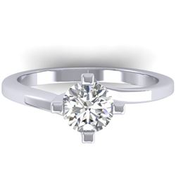 1 CTW Certified VS/SI Diamond Solitaire Ring 14K White Gold - REF-278W3H - 30396