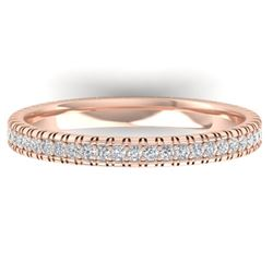 0.75 CTW Certified VS/SI Diamond Eternity Band Ring 14K Rose Gold - REF-53F3N - 30265