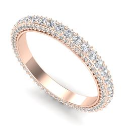 1.75 CTW VS/SI Diamond Art Deco Eternity Ring 18K Rose Gold - REF-149R3K - 37212
