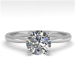 1.01 CTW VS/SI Diamond Engagement Designer Ring 18K White Gold - REF-284R7K - 32400