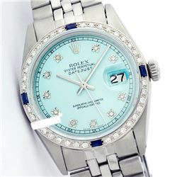 Rolex Ladies Stainless Steel, Diam Dial & Diam/Sapphire Bezel, Sapphire Crystal - REF-426A3N