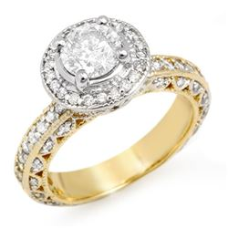 2.0 CTW Certified VS/SI Diamond Ring 14K 2-Tone Gold - REF-396X7R - 11364