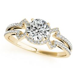 0.90 CTW Certified VS/SI Diamond Solitaire Ring 18K Yellow Gold - REF-152K7W - 27968
