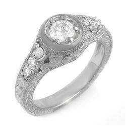 0.75 CTW Certified VS/SI Diamond Ring 14K White Gold - REF-108K7W - 13656