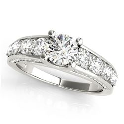 3.05 CTW Certified VS/SI Diamond Solitaire Ring 18K White Gold - REF-675W4H - 28140
