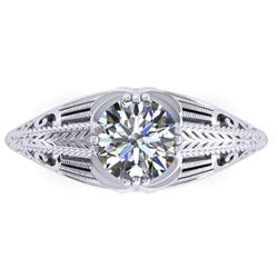 1 CTW Solitaire Certified VS/SI Diamond Ring 14K White Gold - REF-279F2N - 38532
