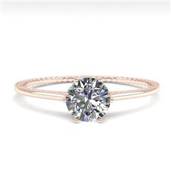 0.50 CTW VS/SI Diamond Solitaire Engagement Ring 18K Rose Gold - REF-95X5R - 35879