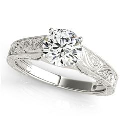 0.75 CTW Certified VS/SI Diamond Solitaire Ring 18K White Gold - REF-180K5W - 27807