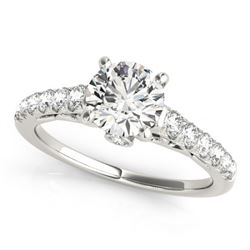 1.50 CTW Certified VS/SI Diamond Solitaire Ring 18K White Gold - REF-385A6V - 27597