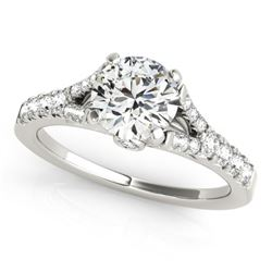 1 CTW Certified VS/SI Diamond Solitaire Ring 18K White Gold - REF-135F3N - 27633