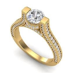 2 CTW VS/SI Diamond Micro Pave Ring 18K Yellow Gold - REF-290A9V - 36949