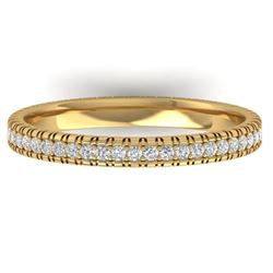 0.75 CTW Certified VS/SI Diamond Eternity Band Ring 14K Yellow Gold - REF-53K3W - 30266