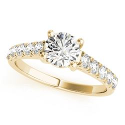 1.55 CTW Certified VS/SI Diamond Solitaire Ring 18K Yellow Gold - REF-498M5F - 28133