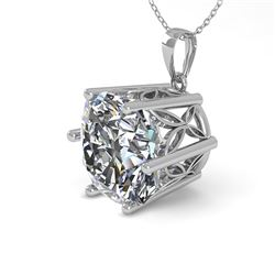 1 CTW VS/SI Cushion Cut Diamond Solitaire Necklace 18K White Gold - REF-285V2Y - 35871