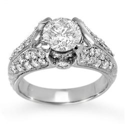 2.20 CTW Certified VS/SI Diamond Ring 14K White Gold - REF-554K3W - 11867
