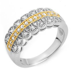 0.50 CTW Certified VS/SI Diamond Ring Solid 10K 2-Tone Gold - REF-52Y7X - 10052