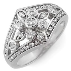 0.75 CTW Certified VS/SI Diamond Ring 10K White Gold - REF-54K5W - 11006