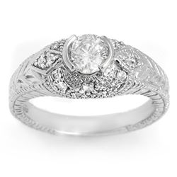 0.75 CTW Certified VS/SI Diamond Ring 14K White Gold - REF-115K8W - 11650