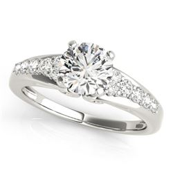 1.40 CTW Certified VS/SI Diamond Solitaire Ring 18K White Gold - REF-382K5W - 27609