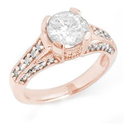 2.06 CTW Certified VS/SI Diamond Ring 14K Rose Gold - REF-485W7H - 14182