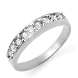 0.50 CTW Certified VS/SI Diamond Ring 18K White Gold - REF-62M9F - 12827