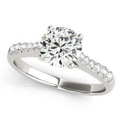 1.25 CTW Certified VS/SI Diamond Solitaire Ring 18K White Gold - REF-363R6K - 27432