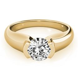 0.50 CTW Certified VS/SI Diamond Solitaire Ring 18K Yellow Gold - REF-108R9K - 27800