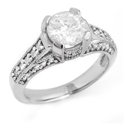 2.06 CTW Certified VS/SI Diamond Ring 14K White Gold - REF-485R7K - 14183