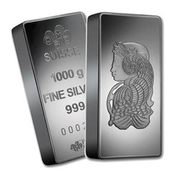 One piece 1 kilo 0.999 Fine Silver Bar PAMP Suisse Fortuna-60721