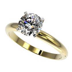 1.57 CTW Certified H-SI/I Quality Diamond Solitaire Engagement Ring 10K Yellow Gold - REF-400V2Y - 3