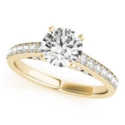 1.50 CTW Certified VS/SI Diamond Solitaire Ring 18K Yellow Gold - REF-381V8Y - 27470