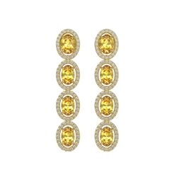 5.4 CTW Fancy Citrine & Diamond Earrings Yellow Gold 10K Yellow Gold - REF-102R2K - 40546