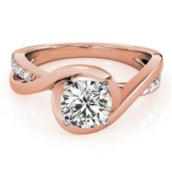 0.90 CTW Certified VS/SI Diamond Solitaire Ring 18K Rose Gold - REF-206F7N - 27454