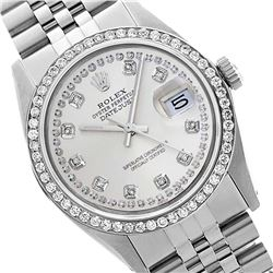 Rolex Ladies Stainless Steel, Diamond Dial & Diamond Bezel, Sapphire Crystal - REF-434W4H