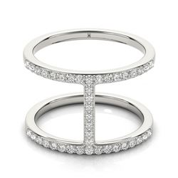 0.50 CTW Certified VS/SI Diamond Fashion Ring 18K White Gold - REF-85W5H - 28257