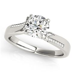 0.93 CTW Certified VS/SI Diamond Solitaire Ring 18K White Gold - REF-180W2H - 27906