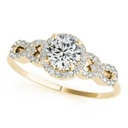 1.08 CTW Certified VS/SI Diamond Solitaire Ring 18K Yellow Gold - REF-192X9R - 27962